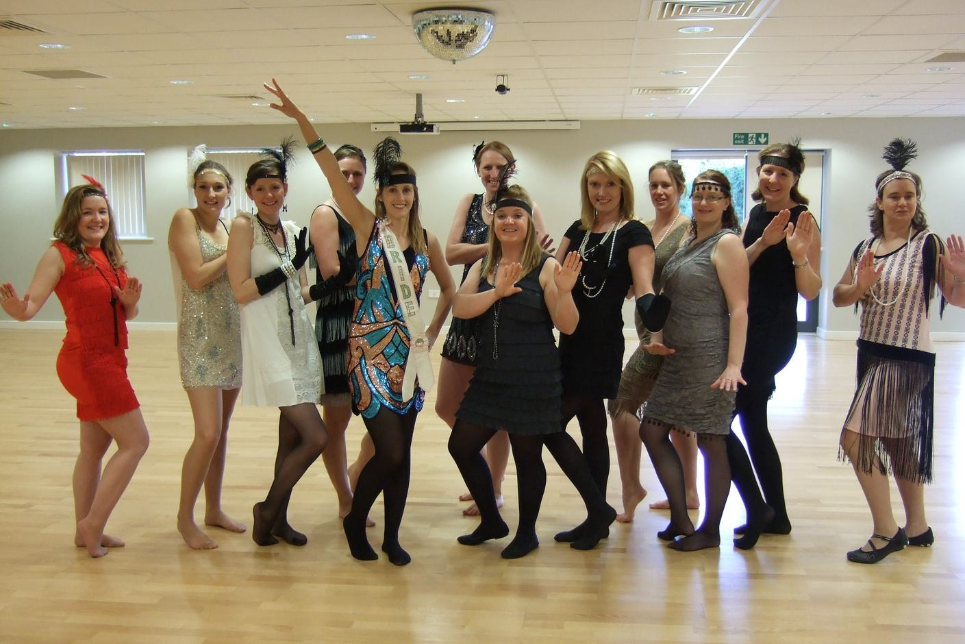 Charleston Hen Dance Party in North Norfolk