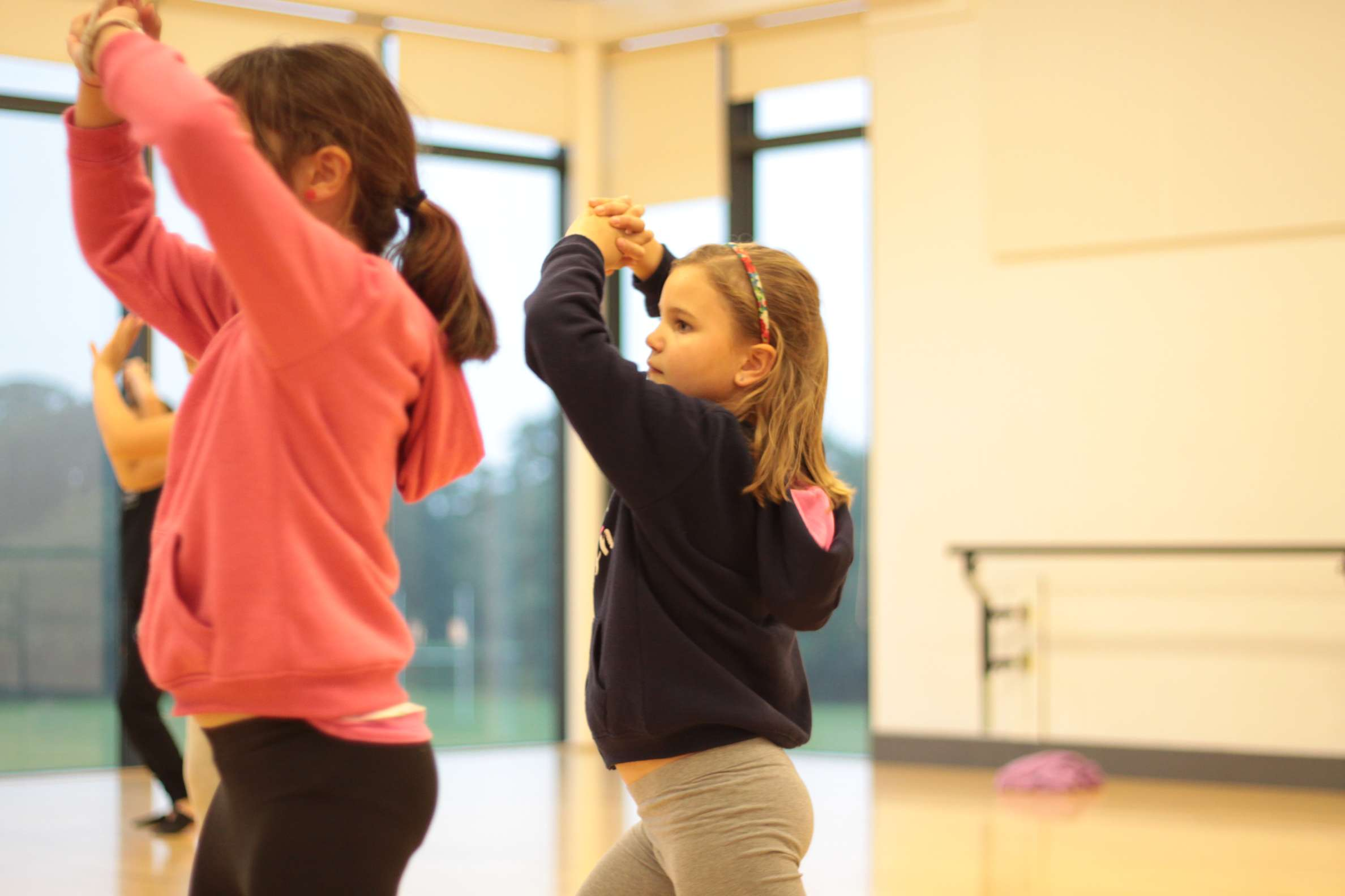 Dance workshop at a school in North Norfolk