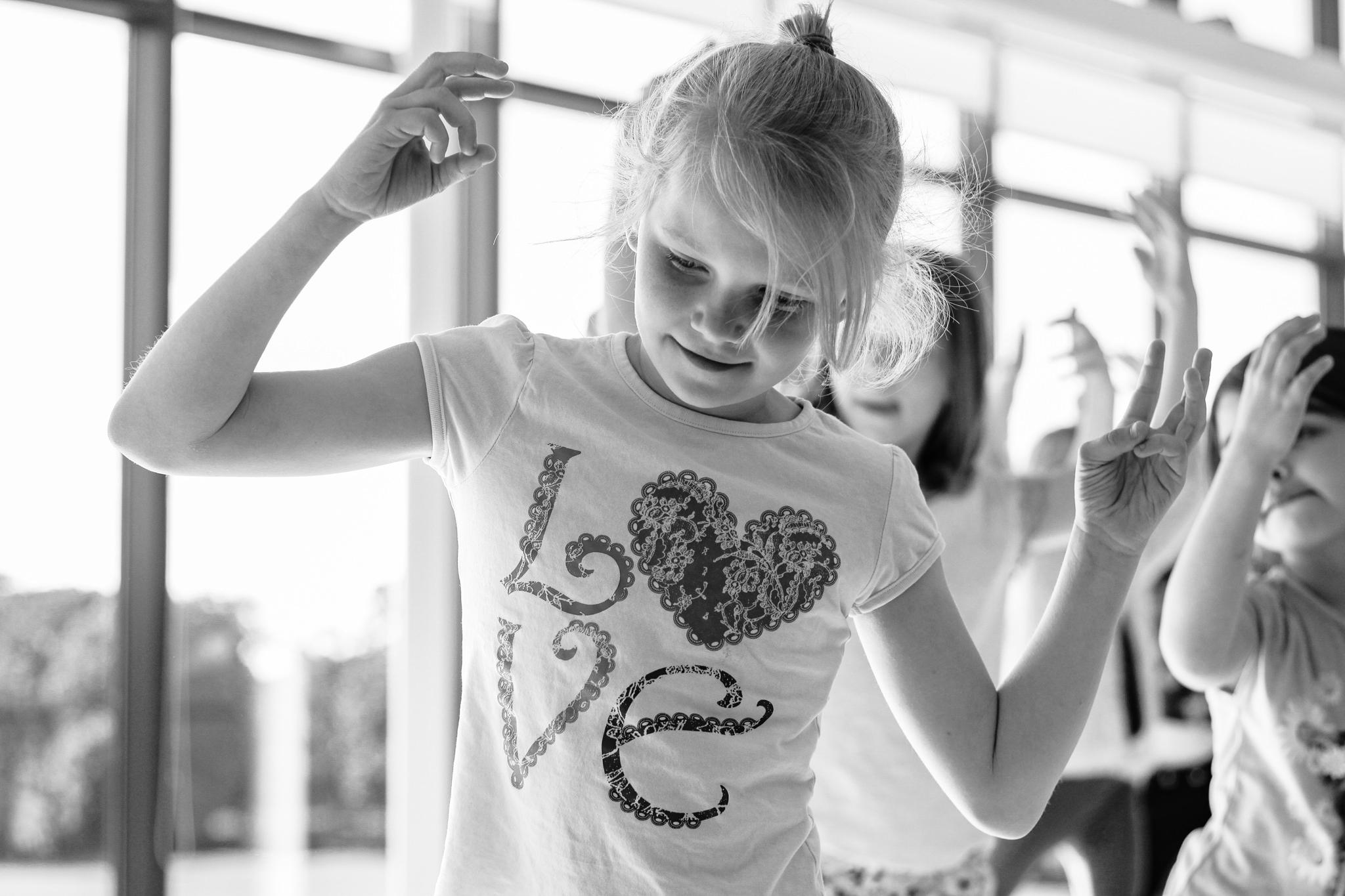 Girl dancing at dance party
