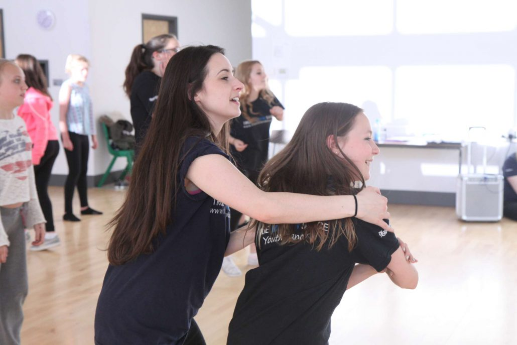 Kelly teaching in 12-16 street dance class in North Walsham and Sheringham