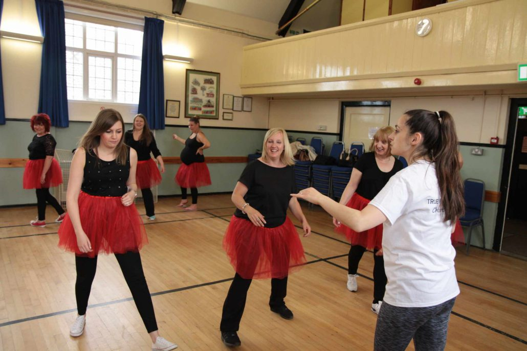 Kelly delivering a hen dance party in North Norfolk