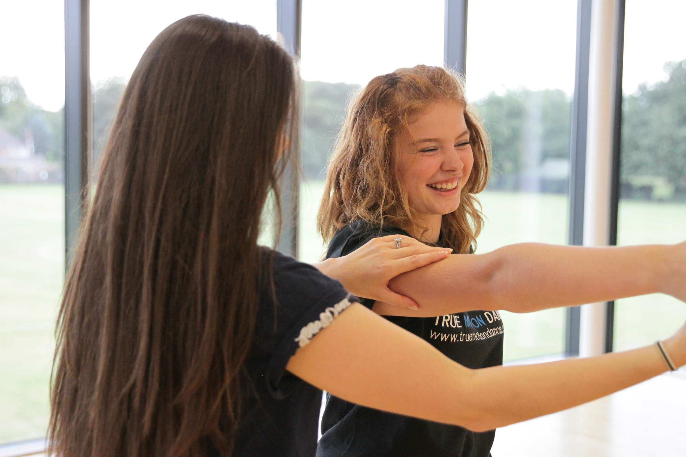Kelly delivering a private dance lesson at The Atrium in North Walsham